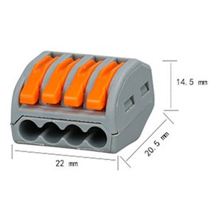PCT-214 PCT214 222-414 dimensions conector