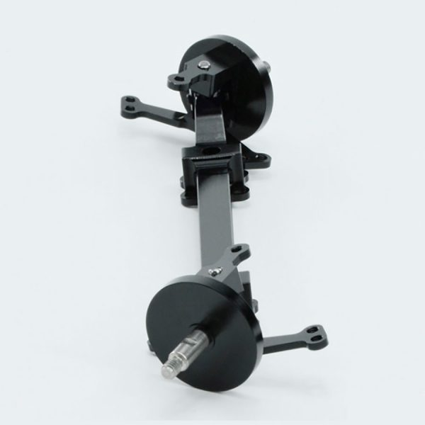 Non-driven front axle made of metal